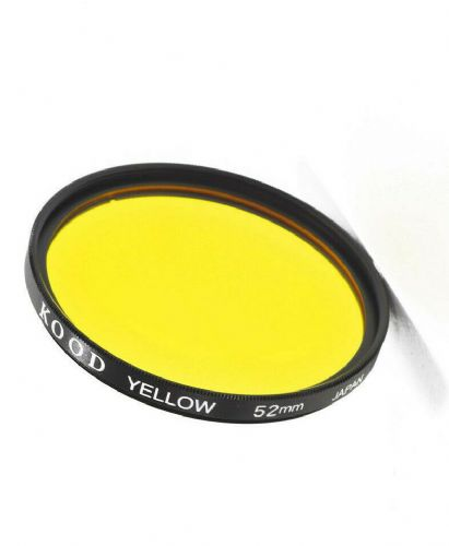 Kood High Quality Optical Glass Yellow Filter Made in Japan 52mm